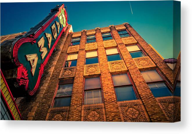 Alabama Theater Canvas Print featuring the photograph Alabama Theater Sign 2 by Phillip Burrow