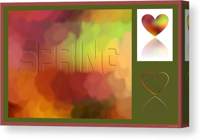 Abstract Canvas Print featuring the digital art Art For Spring by Linda Galok