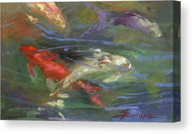 Plein Air Canvas Print featuring the painting Below The Surface by Betty Jean Billups