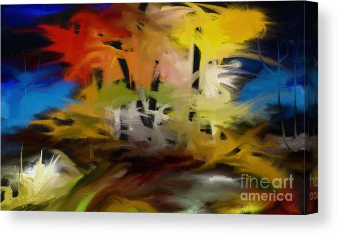 Digital Canvas Print featuring the painting Crazy Nature by Rushan Ruzaick