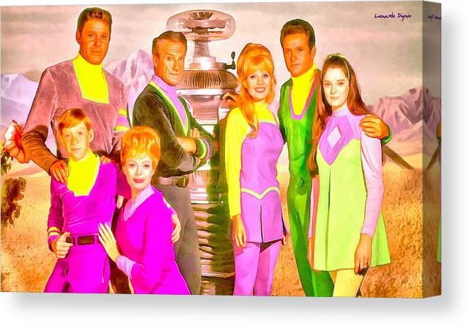 Lost In Space Canvas Print featuring the painting Lost In Space Team - Pa by Leonardo Digenio