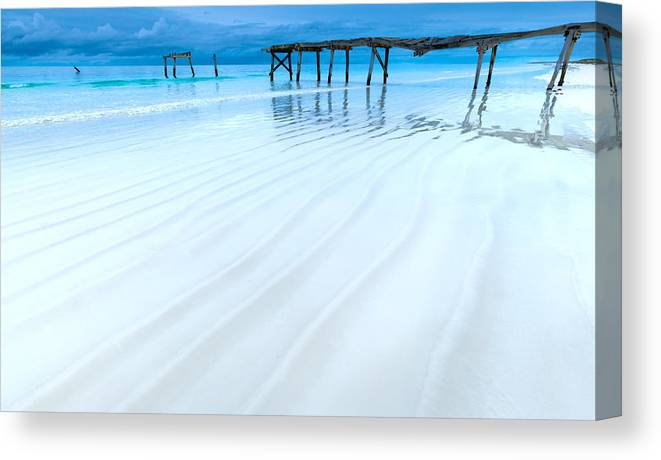 Jetty Canvas Print featuring the photograph Morning Blues by Julian Cook