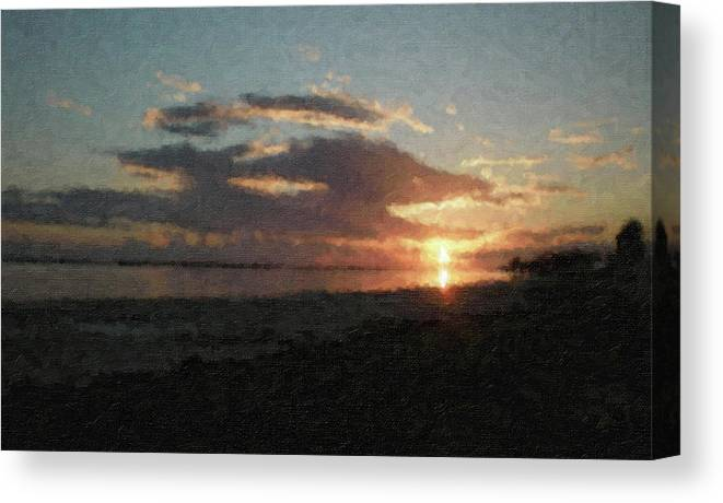 Sunset Canvas Print featuring the photograph Na-36 by Michael Fencik
