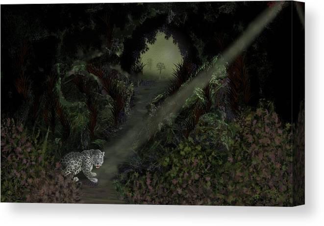 Cheetah Canvas Print featuring the digital art Predator by Tony Rodriguez