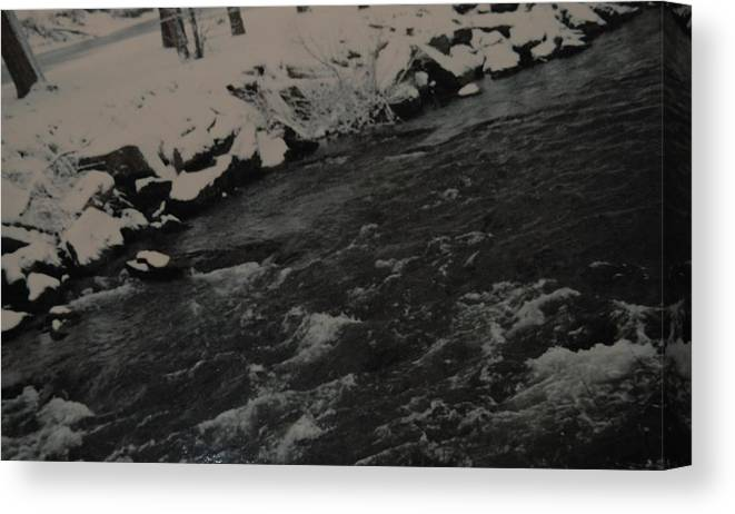 Landscape Canvas Print featuring the photograph Running Water by Rob Hans