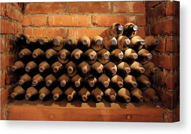 Colchagua Canvas Print featuring the photograph The Wine Cellar II by Brett Winn