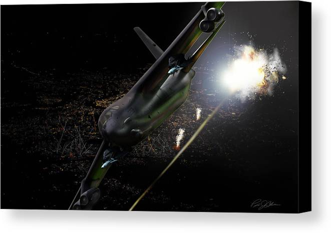 Aviation Canvas Print featuring the digital art Breaking Baghdad by Peter Chilelli