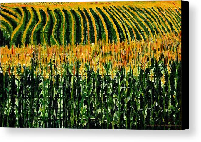 Corn Canvas Print featuring the painting Cash Crop Corn by Gregory Allen Page