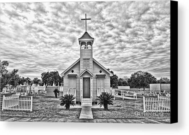 Hdr Canvas Print featuring the photograph Country Chapel by Scott Pellegrin