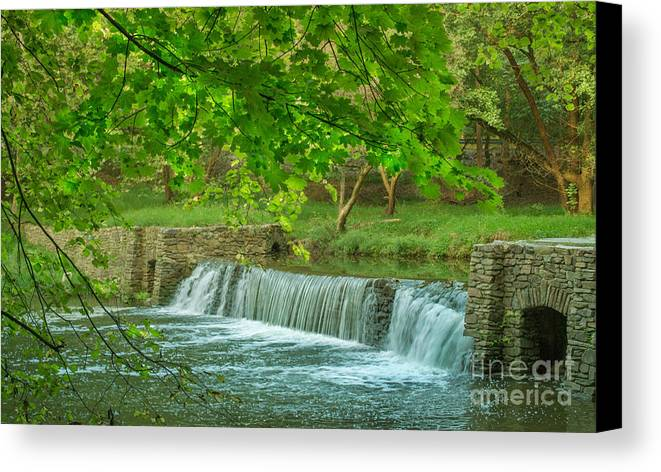 Valley Forge Canvas Print featuring the photograph creek at Valley Forge by Rima Biswas