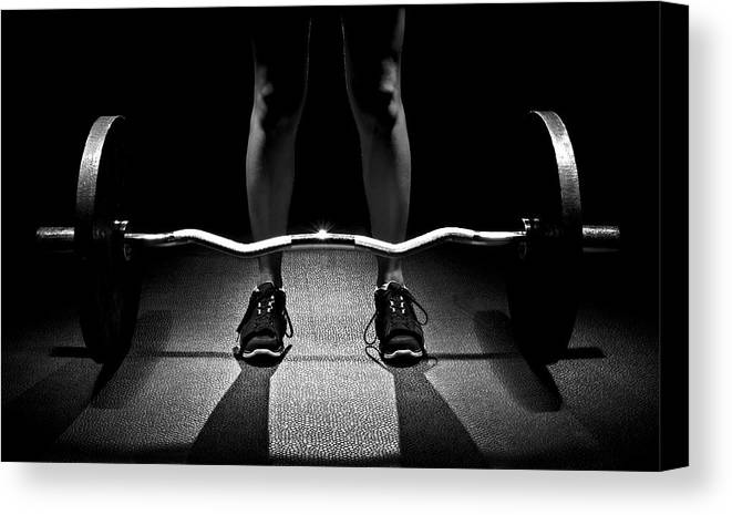 Training Canvas Print featuring the photograph Dead Lift Position by Mark McElroy