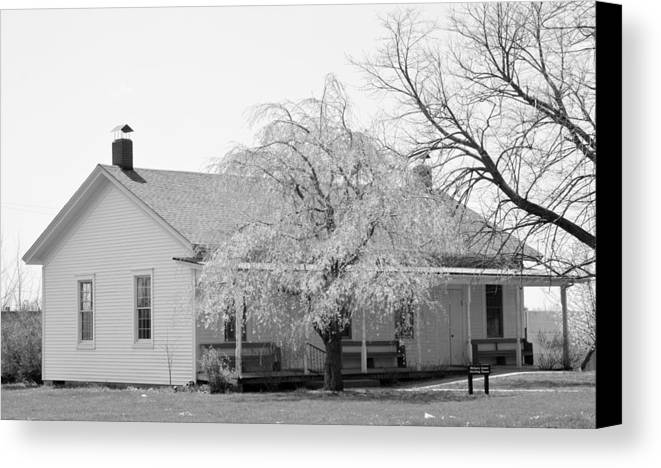 Quaker Canvas Print featuring the photograph Hickory Grove Meeting House by Corrie Blackshear