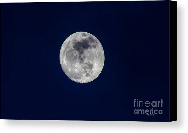 I Give You The Moon Canvas Print featuring the photograph I Give You The Moon by Mitch Shindelbower