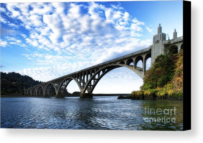 Bridge Canvas Print featuring the photograph Isaac Lee Patterson Bridge by Norma Warden