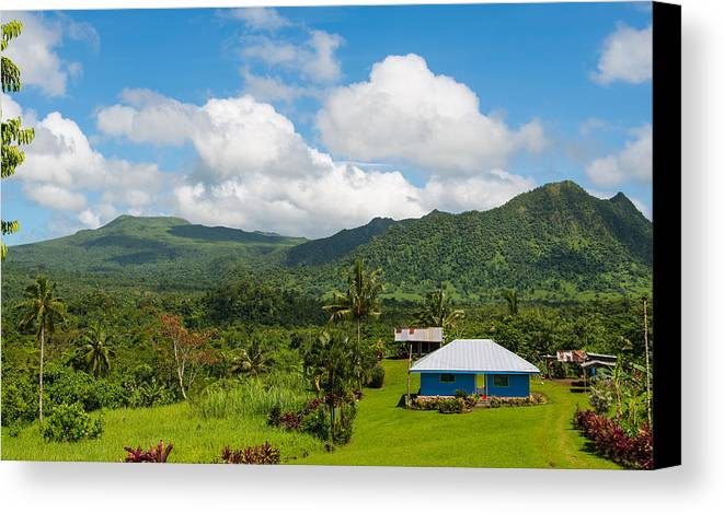 House Canvas Print featuring the photograph Little House Beneath The Hills by S Rodriques