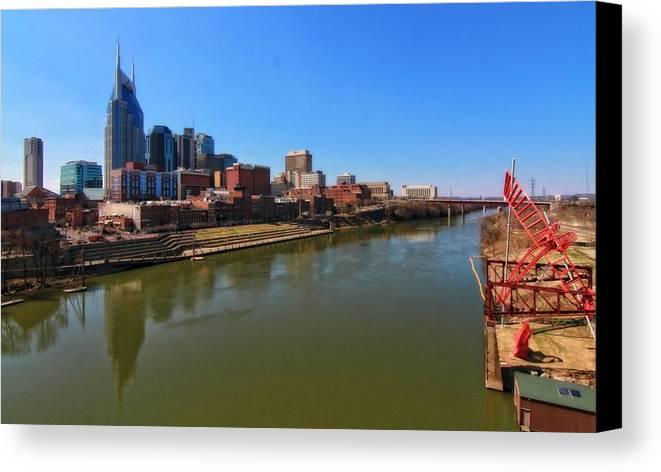 Nashville Skyline Canvas Print featuring the photograph Nashville Skyline by Dan Sproul