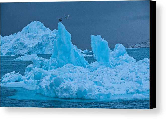 Greenland Canvas Print featuring the photograph No Place Like Home by Jim Southwell