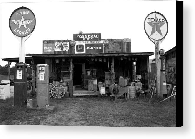 Gas Canvas Print featuring the photograph Old Gas Station by Rhonda Burger