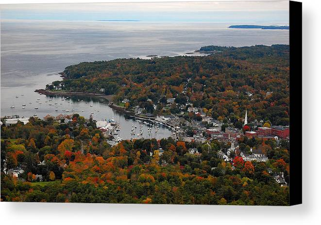 Maine Canvas Print featuring the photograph Sailing Among Clouds by Jim Southwell