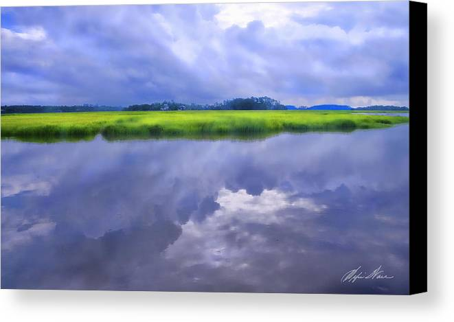 Coastal Canvas Print featuring the photograph Sapelo Morning by Alfie Wace