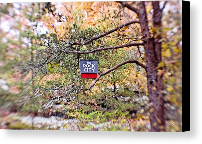 See Rock City Canvas Print featuring the photograph See Rock City by Scott Pellegrin