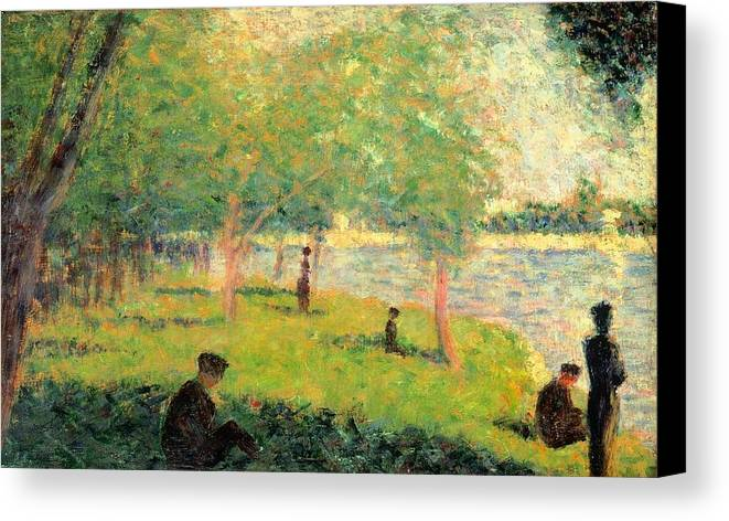 Art Canvas Print featuring the painting Study On La Grande Jatte by Georges Seurat