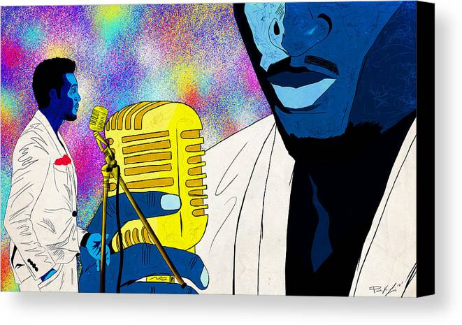 Art Of Soul Music Canvas Print featuring the drawing The Soul Singer by Kenal Louis