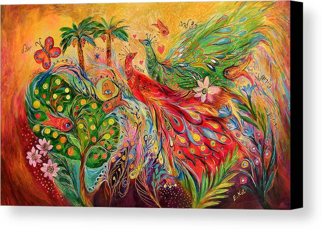 Original Canvas Print featuring the painting The Tree Of Desires by Elena Kotliarker