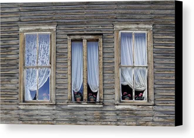 Windows Canvas Print featuring the photograph Three Windows by Geraldine Alexander