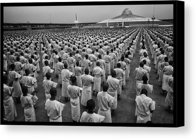 Thailand Canvas Print featuring the photograph Wat Dhamma 1 by David Longstreath