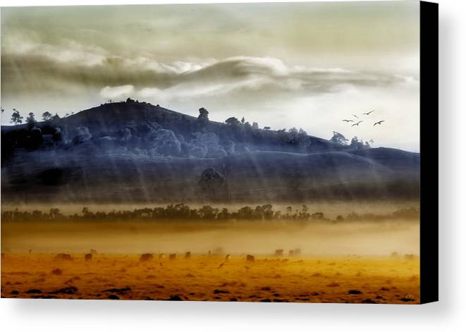 Landscapes Canvas Print featuring the photograph Whisps Of Velvet Rains... by Holly Kempe