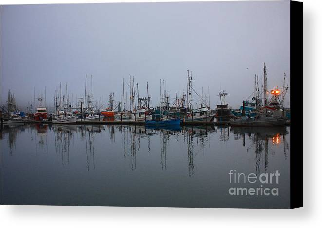 Fog Canvas Print featuring the photograph Encompossed By Fog by Kami McKeon