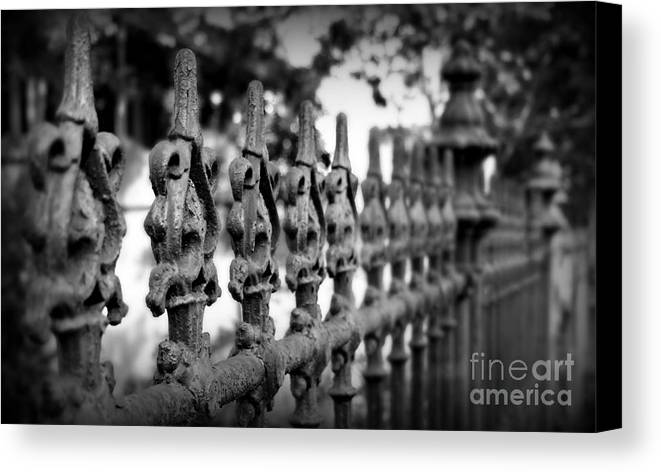 Fence Canvas Print featuring the photograph Iron Fence 2 by Perry Webster