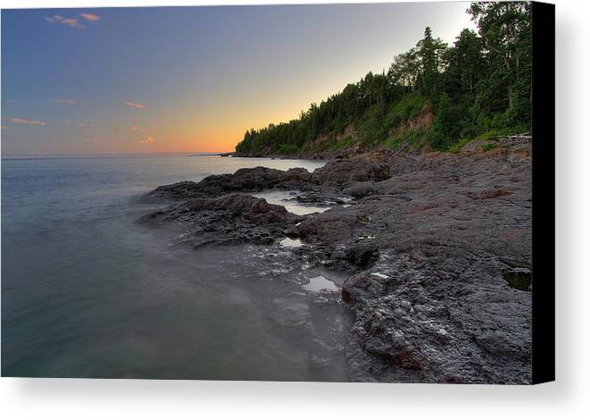 Minnesota Canvas Print featuring the photograph North Shore by Sam Neumann