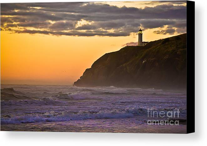 Lighthouse Canvas Print featuring the photograph Sunset At North Head II by Robert Bales