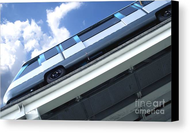 Miami Canvas Print featuring the photograph Train by Blink Images