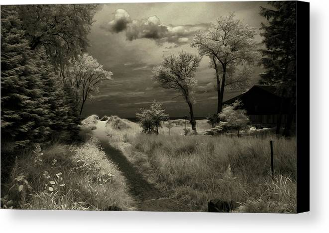 Landscape Canvas Print featuring the photograph What Lies Ahead by George Saad