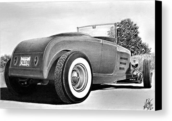 Transportation Canvas Print featuring the drawing 29 Ford by Lyle Brown
