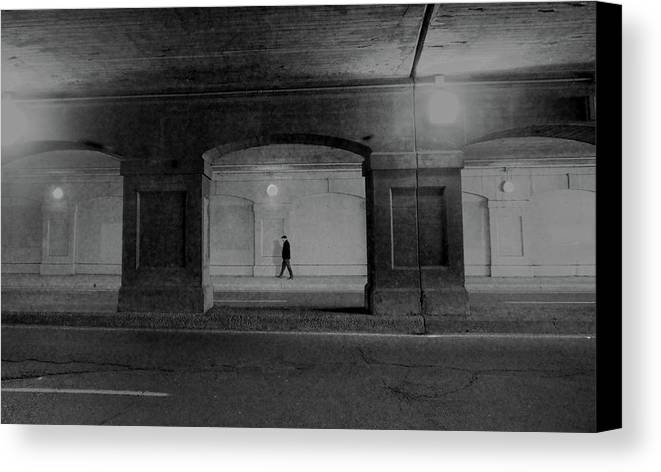 Street Canvas Print featuring the photograph Alone by David Pantuso