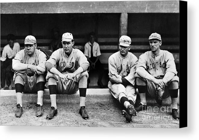 1916 Canvas Print featuring the photograph Boston Red Sox, C1916 by Granger