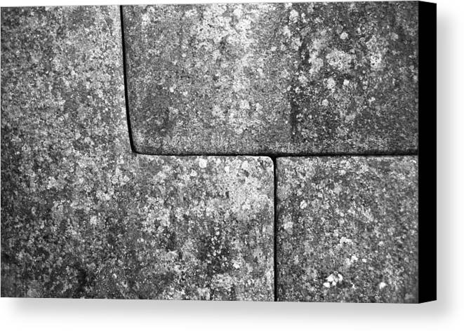 Machu Picchu Canvas Print featuring the photograph Brick Joints by Marcus Best