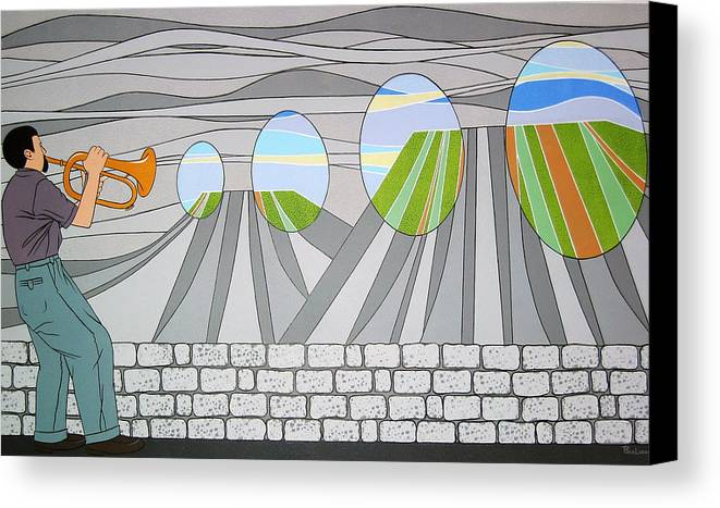 Trumpet Canvas Print featuring the painting Candy Lips by Patricia Van Lubeck
