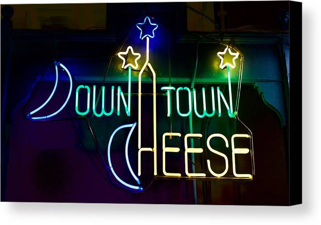 Canvas Print featuring the photograph Down Town Cheese by Ronald Watkins