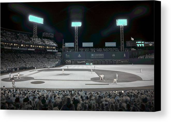 Ballpark Canvas Print featuring the photograph Fenway Infrared by James Walsh