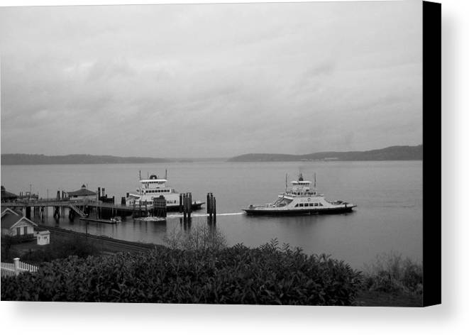 Nature Canvas Print featuring the photograph Ferry by Ty Nichols