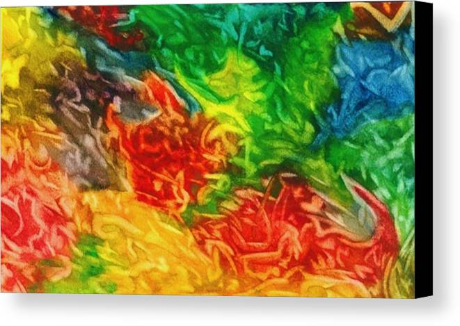 Abstract Canvas Print featuring the painting Fire And Ice by Katina Cote