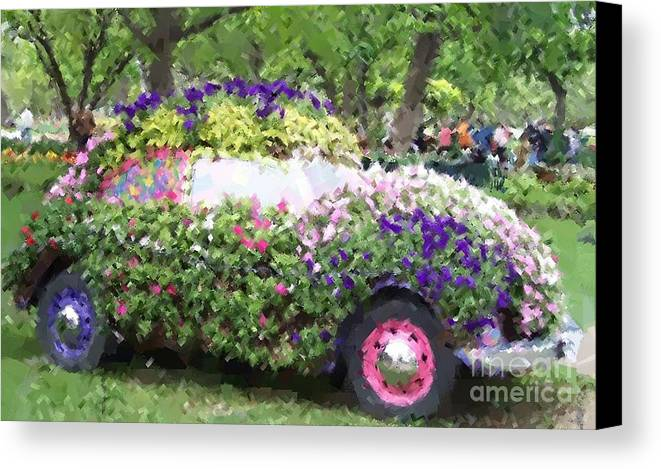 Cars Canvas Print featuring the photograph Flower Power by Debbi Granruth