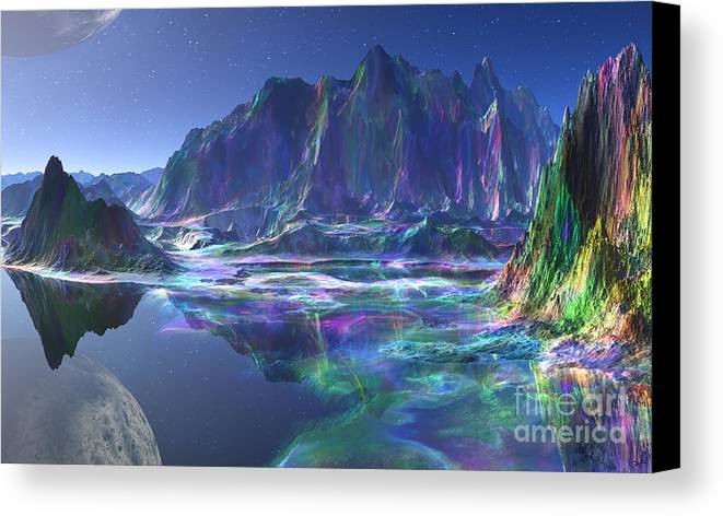 Gemstone Mountain Canvas Print featuring the mixed media Gemstone Mountain by Heinz G Mielke