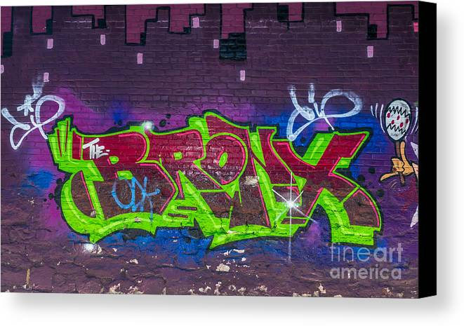 Artistic Canvas Print featuring the photograph Graffiti Art Nyc 2 by Anakin13