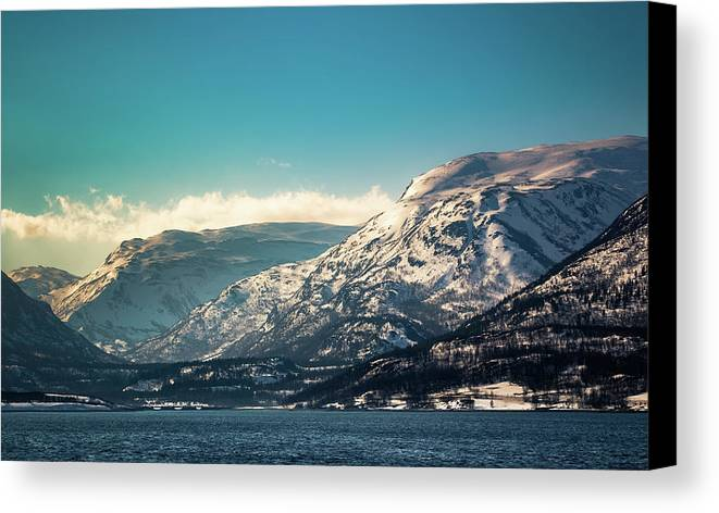 Kafjord Canvas Print featuring the photograph Kafjord Alta Finnmark Norway by Adam Rainoff